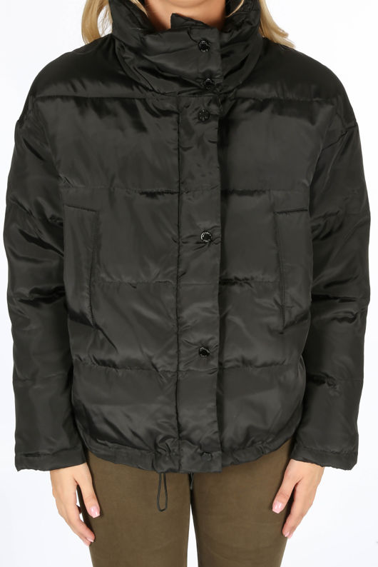 Padded Bomber Jacket In Black