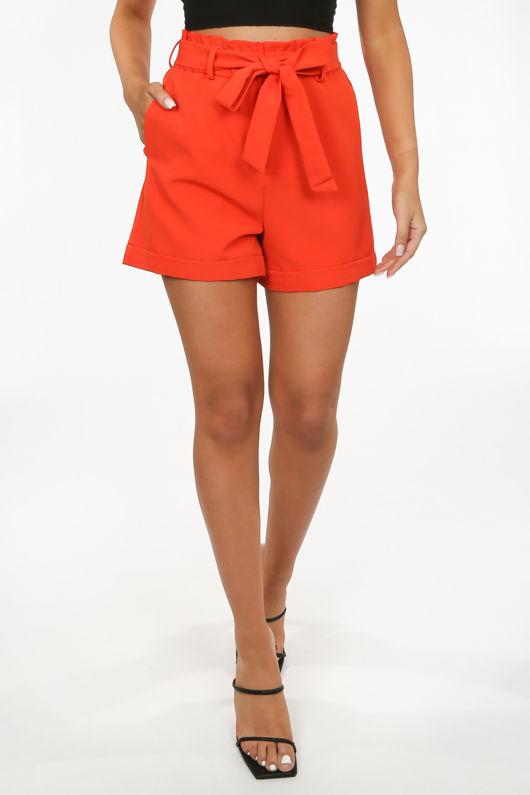 Watermelon Paper Bag Tie Waisted Shorts