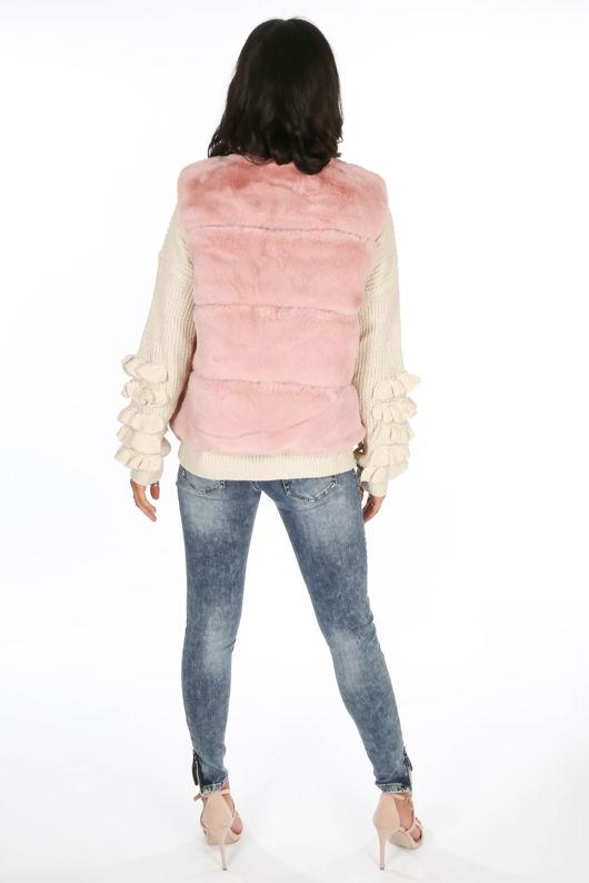 Pink Luxury Faux Fur Gilet