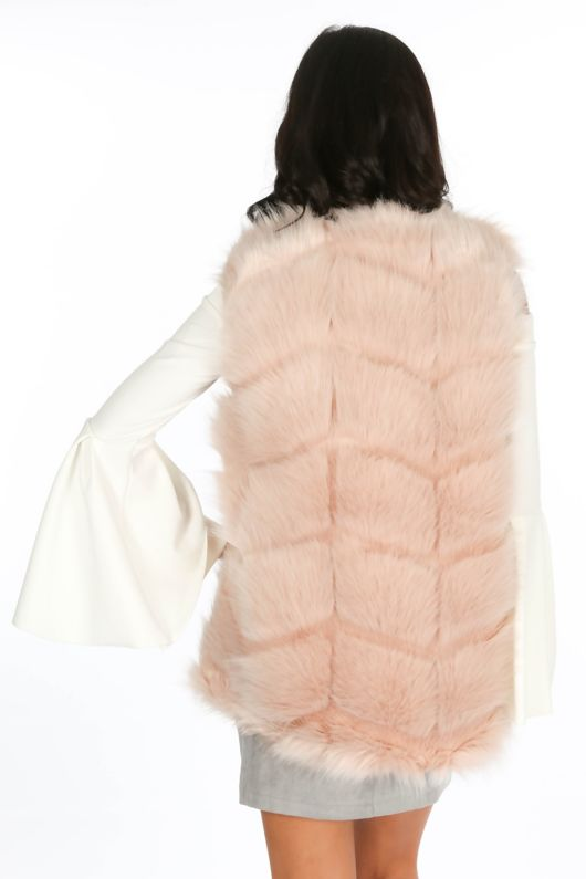 Pink Soft Faux Fur Gilet