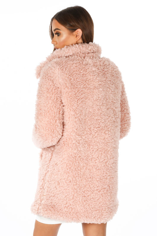 Pink Super Soft Borg Coat