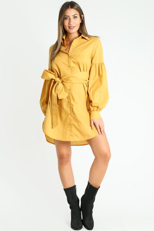 x/274/Puff_Sleeve_Belted_Shirt_Dress_In_Mustard__86850.jpg