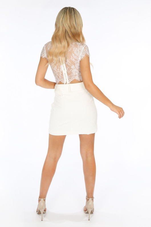 7274a9a1f1d71 White Floral Lace Crop Top With Bralet
