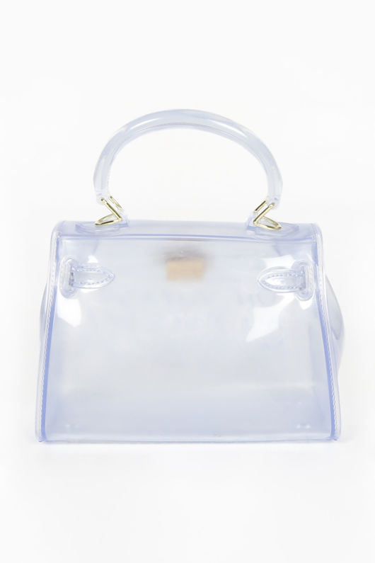 Clear Perspex Twist Lock Tote Bag