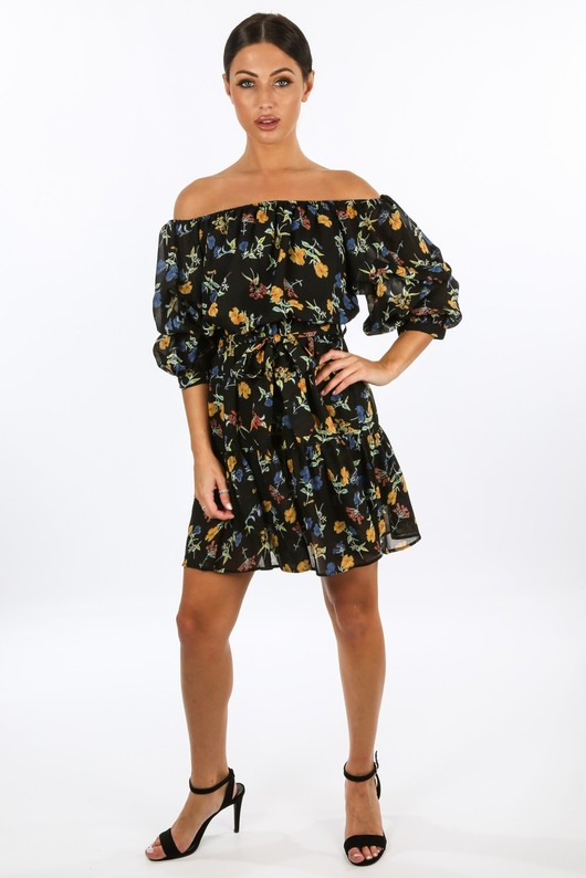 t/618/W1460-_Floral_Chiffon_Off_The_Shoulder_Day_Dress_In_Black___06541.jpg