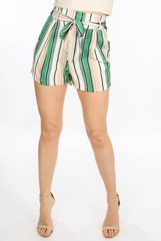 s/765/W1476-1-_Striped_Paper_Bag_Shorts_In_Green-3__19757.jpg