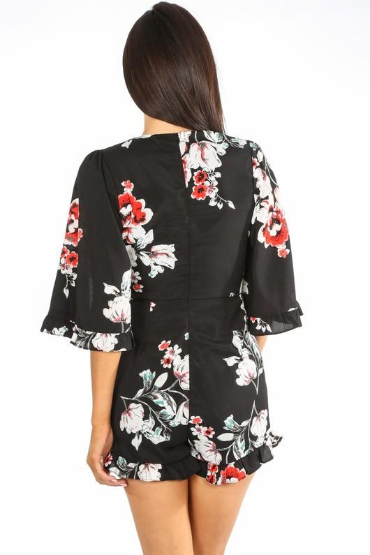 h/602/W1605-_Floral_V-neck_Playsuit_With_Frill_Hem_In_Black-4__47355.jpg