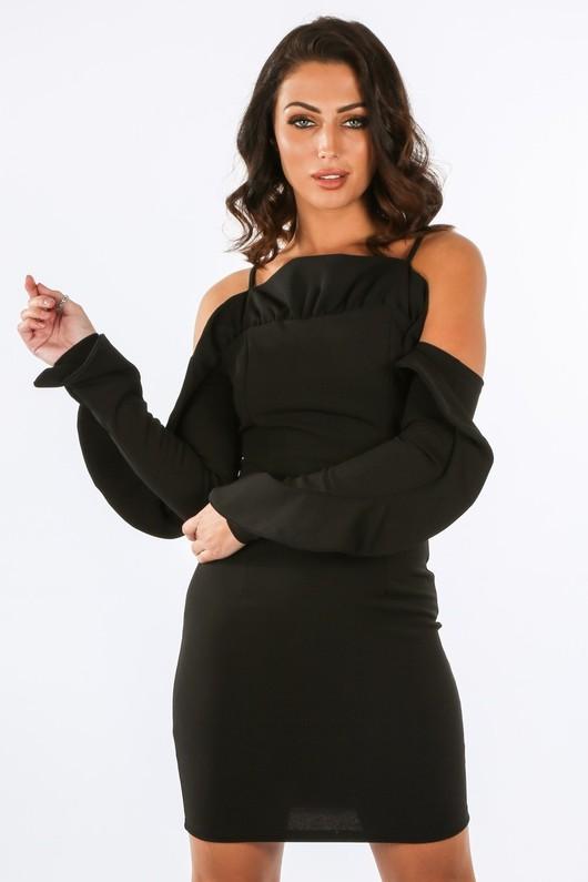 g/168/W1611-_Long_Sleeve_Cold_Shoulder_Frill_Dress_In_Black-2__43402.jpg