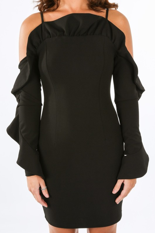 d/798/W1611-_Long_Sleeve_Cold_Shoulder_Frill_Dress_In_Black-5__91777.jpg
