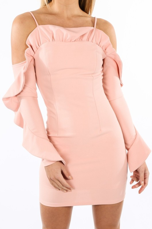 d/423/W1611-_Long_Sleeve_Cold_Shoulder_Frill_Dress_In_Pink-5__30902.jpg