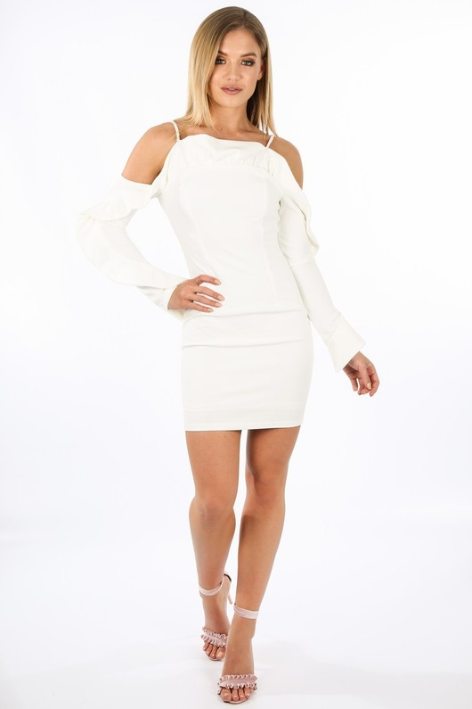 h/743/W1611-_Long_Sleeve_Cold_Shoulder_Frill_Dress_In_White__36765.jpg