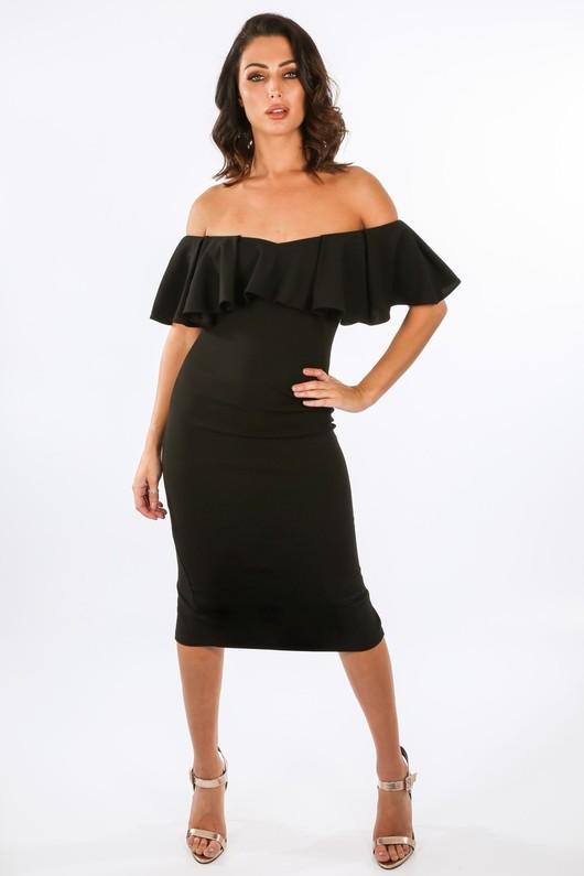 x/564/W1627-_Frill_Bardot_Midi_Dress_In_Black__81914.jpg