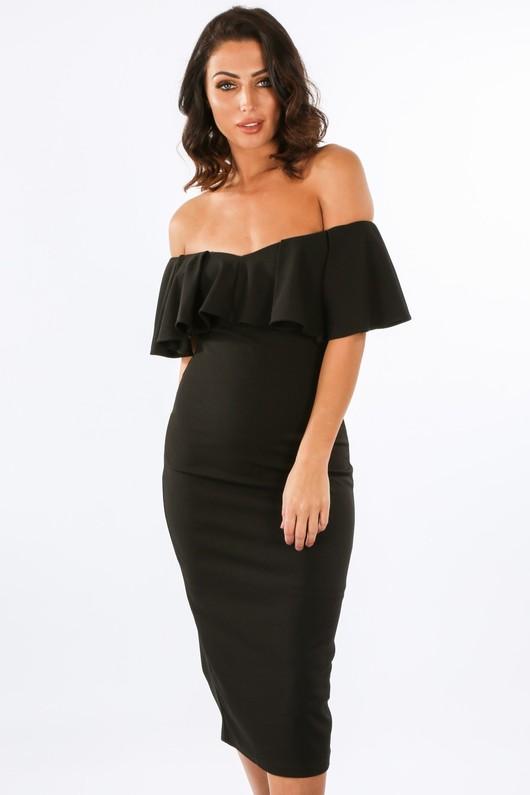 h/018/W1627-_Frill_Bardot_Midi_Dress_In_Black-2__41603.jpg