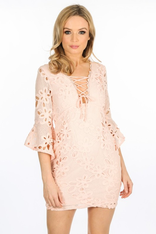 l/908/W1640-_Crochet_Bell_Sleeve_Dress_In_Pink-3__65454.jpg