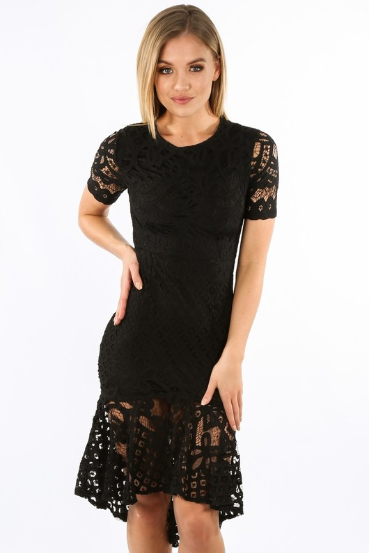 i/065/W2407-_Black_Crochet_Short_Sleeve_Fishtail_Midi_Dress__77887.jpg