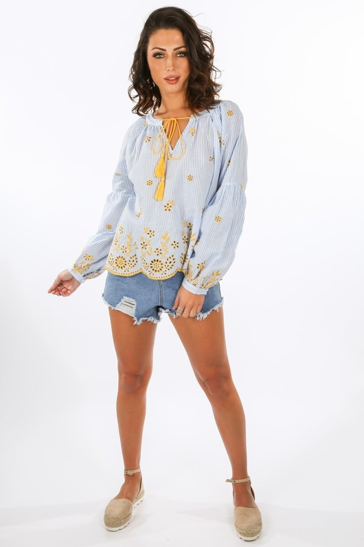 f/493/W2412-_Striped_Blue_Blouse_With_Yellow_Embroidery__97654.jpg