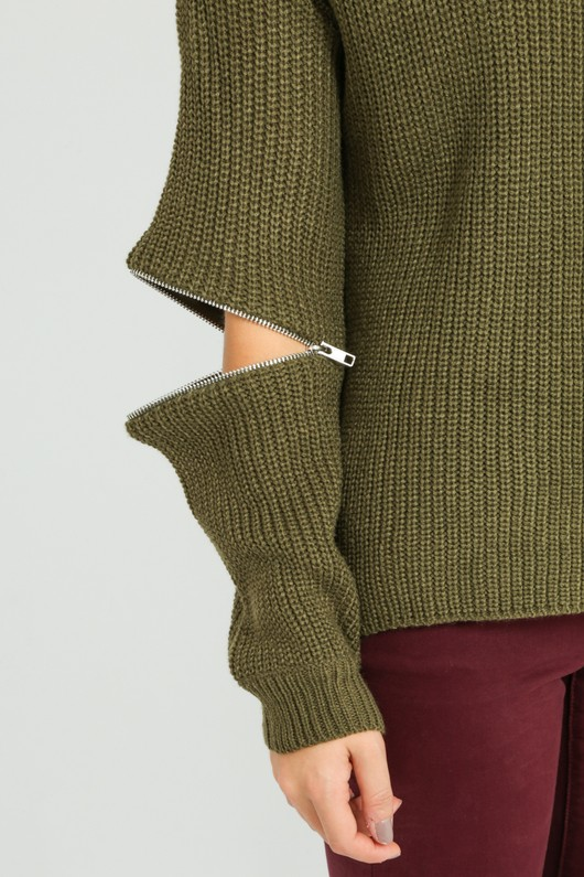 y/765/W5207-_Zip_Knitwear_In_Khaki-3__64653.jpg