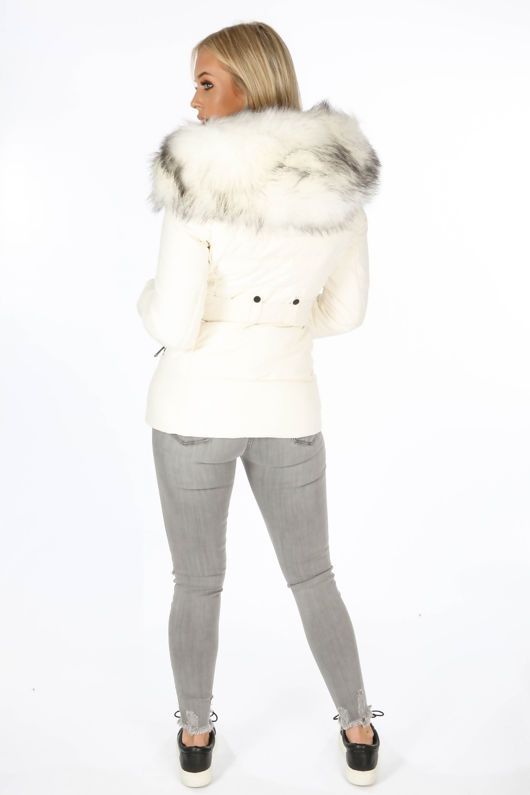 White Fitted Puffer Jacket