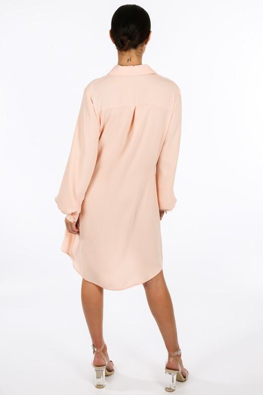 e/562/gcd2076-_Tie_Front_Chiffon_Shirt_Dress_In_Pink-4__48206.jpg