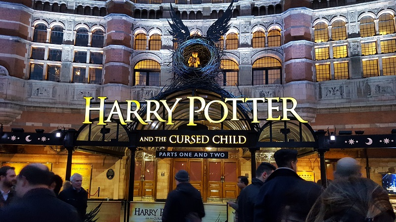 Theatre showing Cursed Child in London