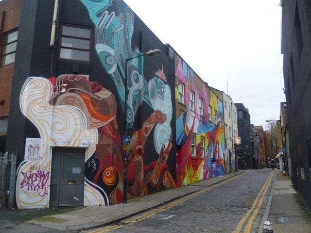Street art in Chance Street, Shoreditch