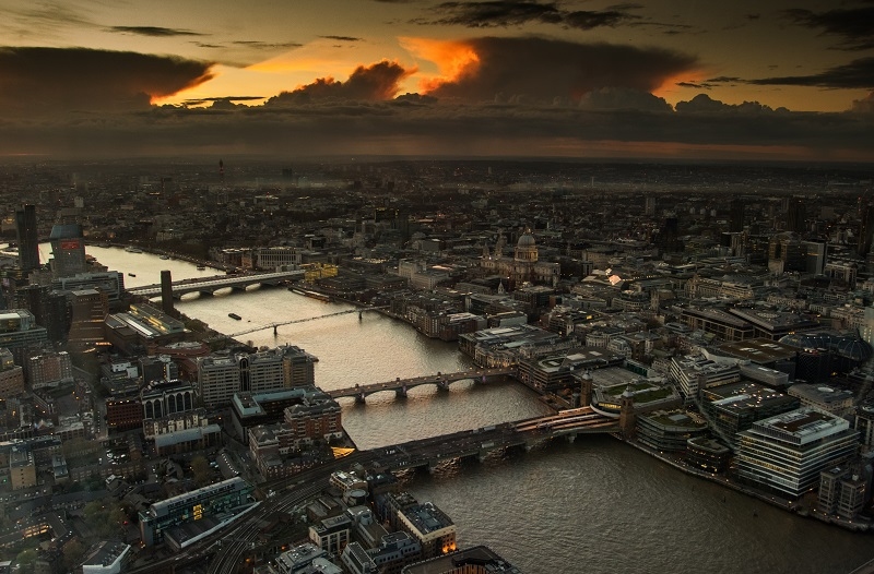 High level view of the Thames