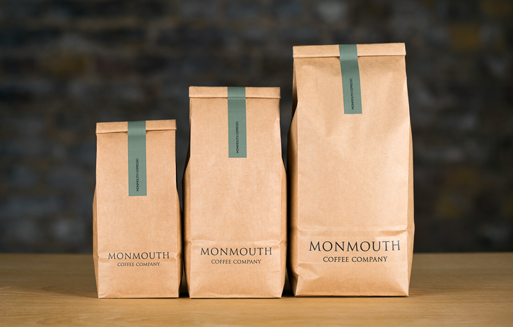 Monmouth Coffee Packages in three sizes