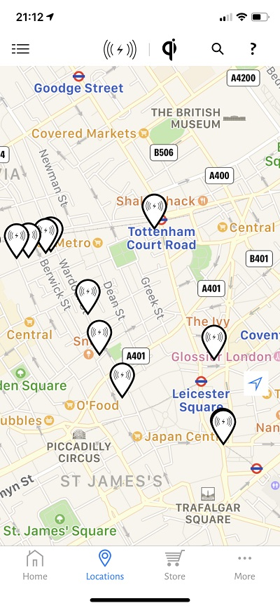 Air Charge coverage in Central London