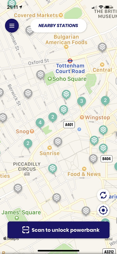 ChargedUp coverage in Central London