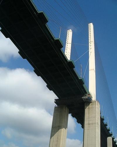 Queen Elizabeth II Bridge from below