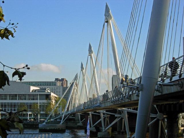 The Golden Jubilee Bridges in London