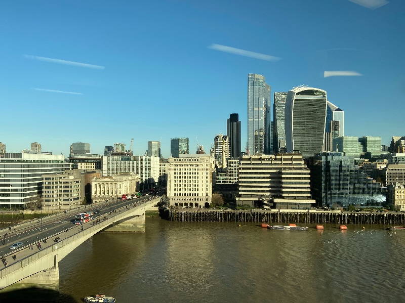 London Bridge is next to Tower Bridge