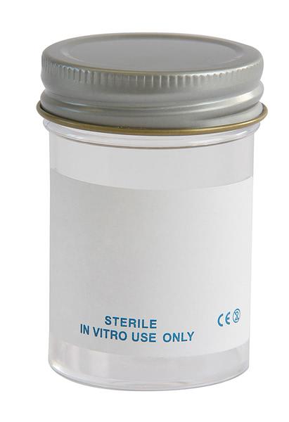 Specimen Container, Metal Cap 60ml, Plain label (Pk300)