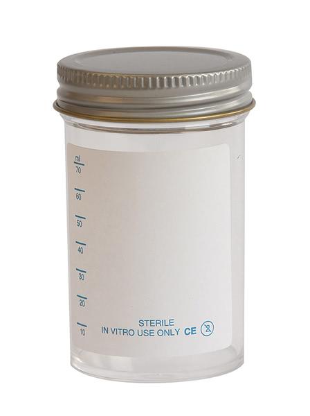 Specimen Container, Metal Cap 100ml, Plain label (Pk200)