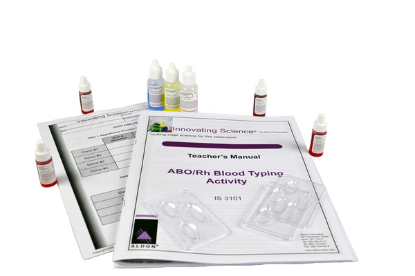 Simulated ABO/Rh Blood Typing