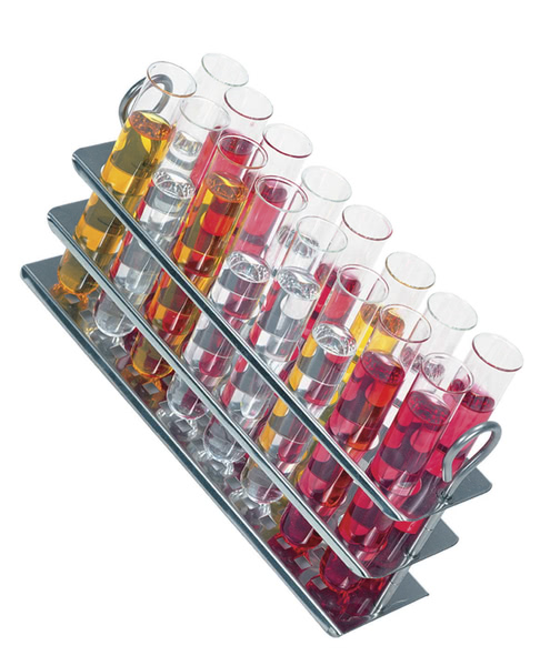 Clifton™ Water Bath Stainless Steel Test Tube Rack. 18 Holes x 19mm Dia.