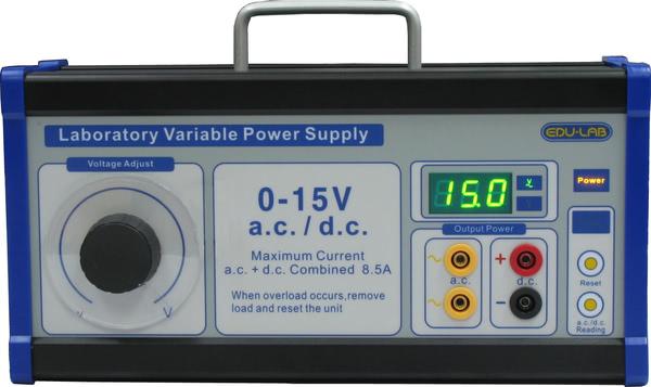 Power Supply, 0-15V Variable - Edulab (European Version)
