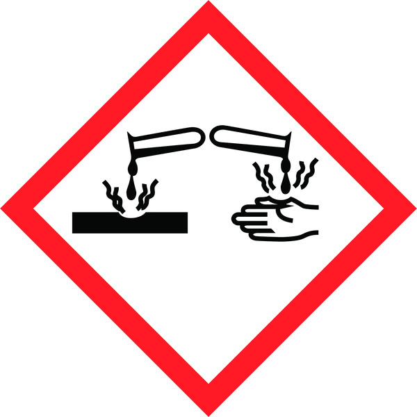 Hazard Warning Tape: Corrosive