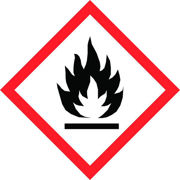 Hazard Warning Tape: Flammable