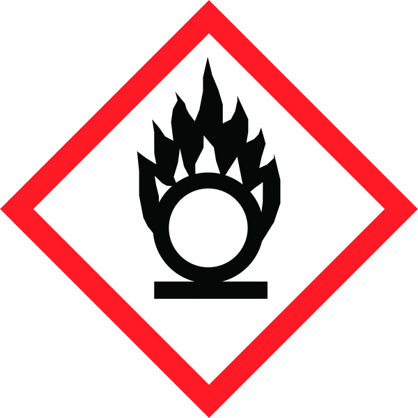 Hazard Warning Tape: Oxidising Agent