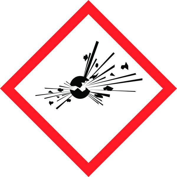 Hazard Warning Tape: Explosive, GHS01