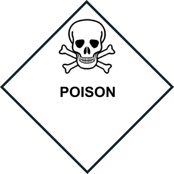 Hazard Warning Tape: Poison