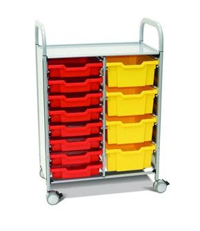 Callero Plus Double Trolley with Shallow and Deep Trays