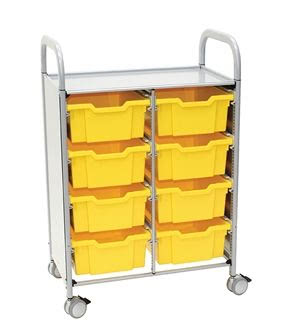 Callero Plus Double Trolley with Deep Trays