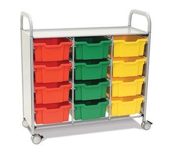 Callero Plus Treble Trolley with Deep Trays