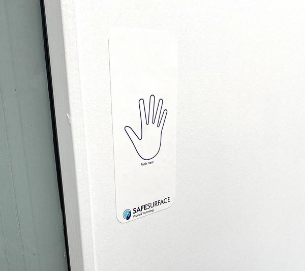 SafeSurface Door Push Panel - Large, 150mm x 230mm (Pack of 10)