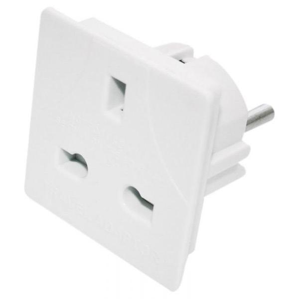 European To UK Adaptor Plug (5 amp flat type)