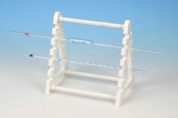 Pipette Stand, Holds 12 Horizontally, Polypropylene