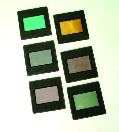 Raybox Colour Filters plastic mounted (Set 6)