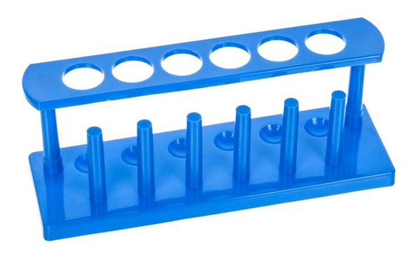 Test Tube Rack 6Hx25mm dia. Polyprop.with Pegs (Pk10)